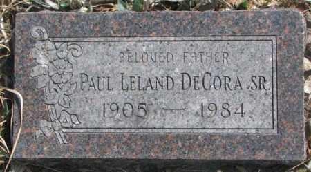 DECORA, PAUL LELAND SR. - Thurston County, Nebraska | PAUL LELAND SR. DECORA - Nebraska Gravestone Photos