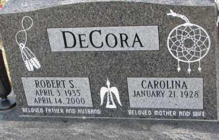 DECORA, CAROLINA - Thurston County, Nebraska   CAROLINA DECORA - Nebraska Gravestone Photos