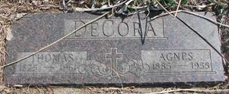 DECORA, THOMAS - Thurston County, Nebraska | THOMAS DECORA - Nebraska Gravestone Photos
