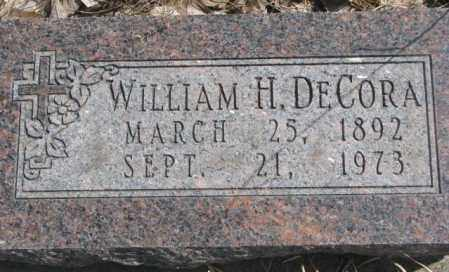 DECORA, WILLIAM H. - Thurston County, Nebraska | WILLIAM H. DECORA - Nebraska Gravestone Photos