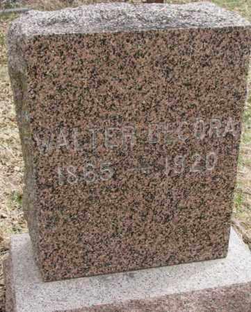 DECORA, WALTER - Thurston County, Nebraska | WALTER DECORA - Nebraska Gravestone Photos