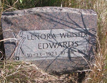 EDWARDS, LENORA - Thurston County, Nebraska   LENORA EDWARDS - Nebraska Gravestone Photos