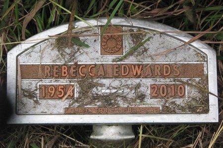 EDWARDS, REBECCA - Thurston County, Nebraska | REBECCA EDWARDS - Nebraska Gravestone Photos