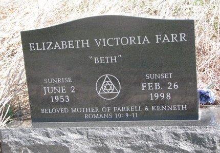 "FARR, ELIZABETH VICTORIA ""BETH"" - Thurston County, Nebraska | ELIZABETH VICTORIA ""BETH"" FARR - Nebraska Gravestone Photos"
