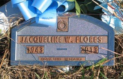 FLORES, JACQUELINE W. - Thurston County, Nebraska | JACQUELINE W. FLORES - Nebraska Gravestone Photos