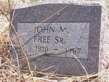 FREE, JOHN M. SR. - Thurston County, Nebraska | JOHN M. SR. FREE - Nebraska Gravestone Photos