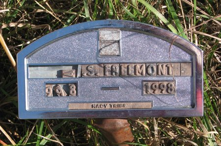 FREEMONT, A.S. - Thurston County, Nebraska   A.S. FREEMONT - Nebraska Gravestone Photos