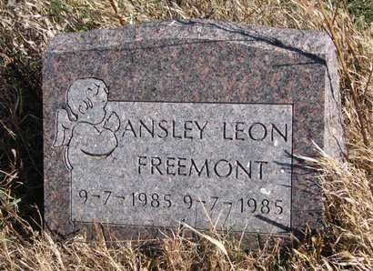 FREEMONT, ANSLEY LEON - Thurston County, Nebraska | ANSLEY LEON FREEMONT - Nebraska Gravestone Photos