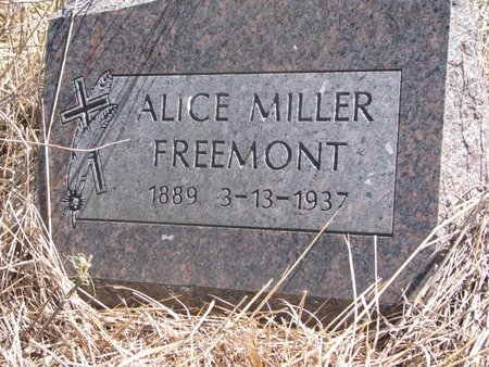 FREEMONT, ALICE - Thurston County, Nebraska   ALICE FREEMONT - Nebraska Gravestone Photos