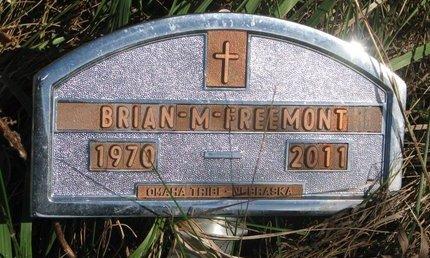 FREEMONT, BRIAN M. - Thurston County, Nebraska | BRIAN M. FREEMONT - Nebraska Gravestone Photos