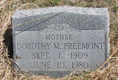 FREEMONT, DOROTHY M. - Thurston County, Nebraska   DOROTHY M. FREEMONT - Nebraska Gravestone Photos