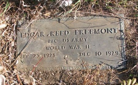 FREEMONT, EDGAR REED (MILITARY) - Thurston County, Nebraska | EDGAR REED (MILITARY) FREEMONT - Nebraska Gravestone Photos