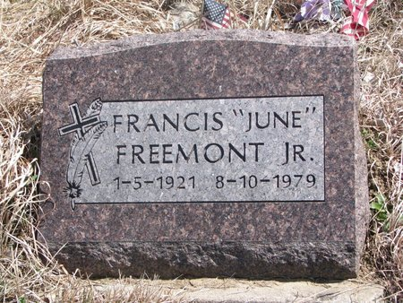 "FREEMONT, FRANCIS ""JUNE"" JR. - Thurston County, Nebraska 