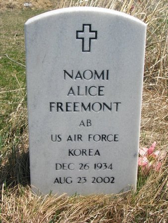 FREEMONT, NAOMI ALICE - Thurston County, Nebraska | NAOMI ALICE FREEMONT - Nebraska Gravestone Photos
