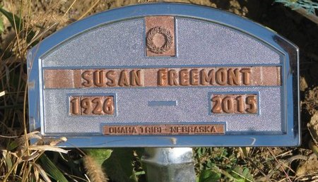 FREEMONT, SUSAN - Thurston County, Nebraska | SUSAN FREEMONT - Nebraska Gravestone Photos