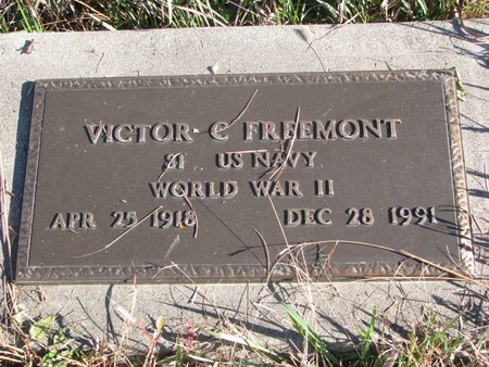 FREEMONT, VICTOR C. - Thurston County, Nebraska   VICTOR C. FREEMONT - Nebraska Gravestone Photos