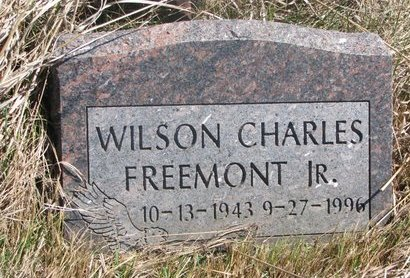 FREEMONT, WILSON CHARLES JR. - Thurston County, Nebraska | WILSON CHARLES JR. FREEMONT - Nebraska Gravestone Photos