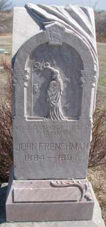 FRENCHMAN, JOHN - Thurston County, Nebraska | JOHN FRENCHMAN - Nebraska Gravestone Photos
