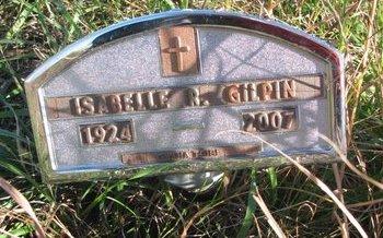 GILPIN, ISABELLE R. - Thurston County, Nebraska | ISABELLE R. GILPIN - Nebraska Gravestone Photos