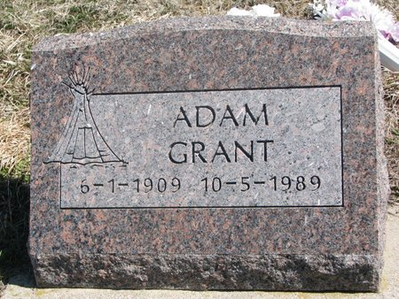 GRANT, ADAM - Thurston County, Nebraska | ADAM GRANT - Nebraska Gravestone Photos