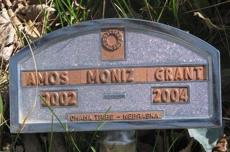 GRANT, AMOS MONIZ - Thurston County, Nebraska | AMOS MONIZ GRANT - Nebraska Gravestone Photos