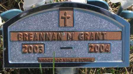 GRANT, BREANNAN M. - Thurston County, Nebraska   BREANNAN M. GRANT - Nebraska Gravestone Photos