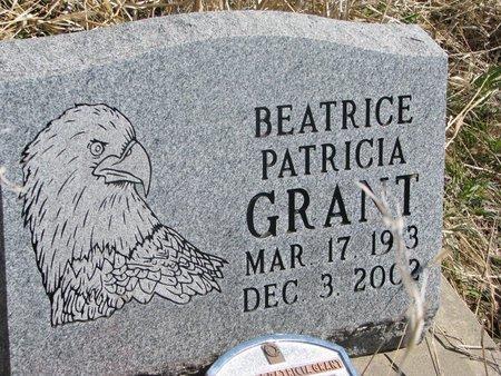 GRANT, BEATRICE PATRICIA - Thurston County, Nebraska | BEATRICE PATRICIA GRANT - Nebraska Gravestone Photos