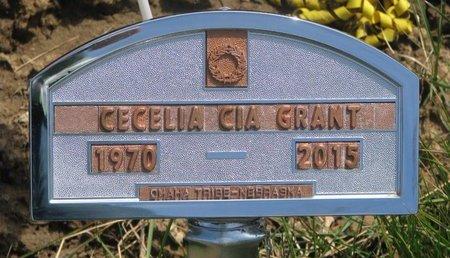 GRANT, CECELIA CIA - Thurston County, Nebraska | CECELIA CIA GRANT - Nebraska Gravestone Photos