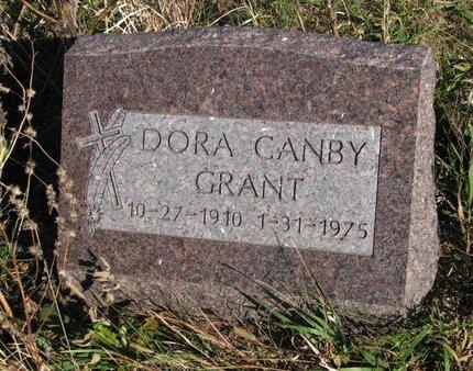 CANBY GRANT, DORA - Thurston County, Nebraska | DORA CANBY GRANT - Nebraska Gravestone Photos