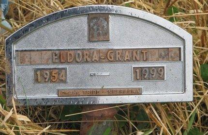 GRANT, ELDORA - Thurston County, Nebraska | ELDORA GRANT - Nebraska Gravestone Photos
