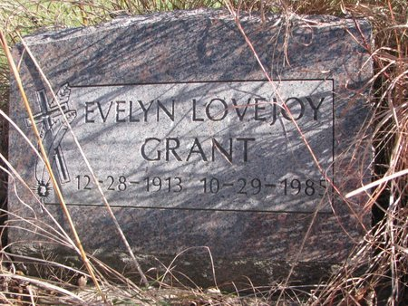 GRANT, EVELYN - Thurston County, Nebraska | EVELYN GRANT - Nebraska Gravestone Photos