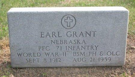 GRANT, EARL - Thurston County, Nebraska | EARL GRANT - Nebraska Gravestone Photos