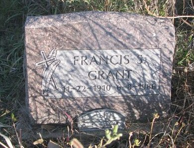 GRANT, FRANCIS S. - Thurston County, Nebraska | FRANCIS S. GRANT - Nebraska Gravestone Photos