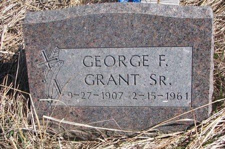 GRANT, GEORGE F. SR. - Thurston County, Nebraska   GEORGE F. SR. GRANT - Nebraska Gravestone Photos