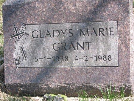 GRANT, GLADYS MARIE - Thurston County, Nebraska   GLADYS MARIE GRANT - Nebraska Gravestone Photos