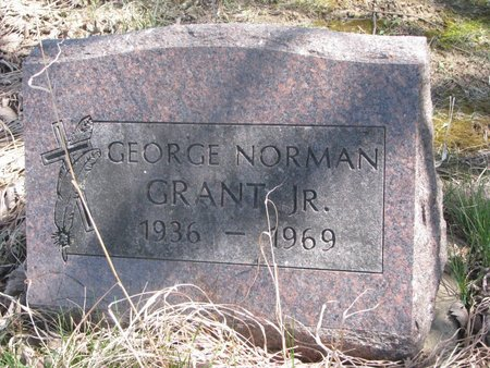 GRANT, GEORGE NORMAN JR. - Thurston County, Nebraska | GEORGE NORMAN JR. GRANT - Nebraska Gravestone Photos
