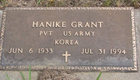 GRANT, HANIKE - Thurston County, Nebraska | HANIKE GRANT - Nebraska Gravestone Photos