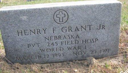 GRANT, HENRY F. JR. - Thurston County, Nebraska | HENRY F. JR. GRANT - Nebraska Gravestone Photos