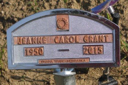 GRANT, JEANNE CAROL - Thurston County, Nebraska   JEANNE CAROL GRANT - Nebraska Gravestone Photos