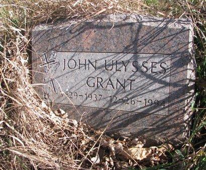 GRANT, JOHN ULYSSES - Thurston County, Nebraska   JOHN ULYSSES GRANT - Nebraska Gravestone Photos