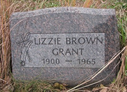 GRANT, LIZZIE - Thurston County, Nebraska   LIZZIE GRANT - Nebraska Gravestone Photos