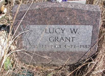 GRANT, LUCY W. - Thurston County, Nebraska   LUCY W. GRANT - Nebraska Gravestone Photos