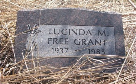 GRANT, LUCINDA M. - Thurston County, Nebraska   LUCINDA M. GRANT - Nebraska Gravestone Photos