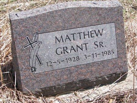 GRANT, MATTHEW SR. - Thurston County, Nebraska   MATTHEW SR. GRANT - Nebraska Gravestone Photos