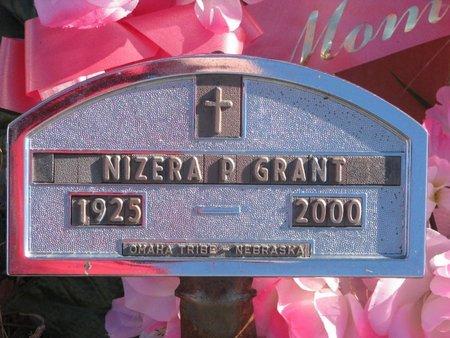 GRANT, NIZERA P. - Thurston County, Nebraska   NIZERA P. GRANT - Nebraska Gravestone Photos