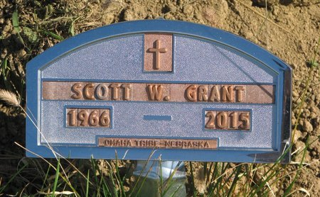 GRANT, SCOTT W. - Thurston County, Nebraska | SCOTT W. GRANT - Nebraska Gravestone Photos