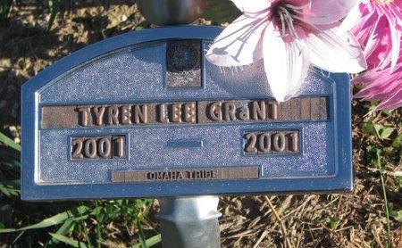 GRANT, TYREN LEE - Thurston County, Nebraska | TYREN LEE GRANT - Nebraska Gravestone Photos