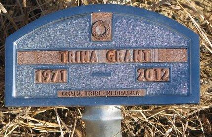 GRANT, TRINA - Thurston County, Nebraska | TRINA GRANT - Nebraska Gravestone Photos