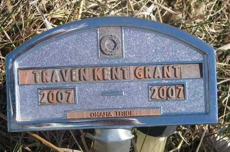 GRANT, TRAVEN KENT - Thurston County, Nebraska | TRAVEN KENT GRANT - Nebraska Gravestone Photos