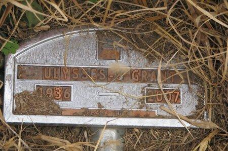 GRANT, ULYSSES S. - Thurston County, Nebraska | ULYSSES S. GRANT - Nebraska Gravestone Photos